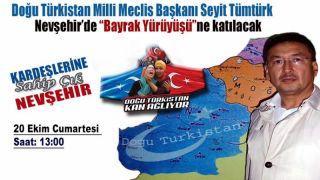 D.Türkistan Milli Meclis Başkanı Nevşehir'e geliyor